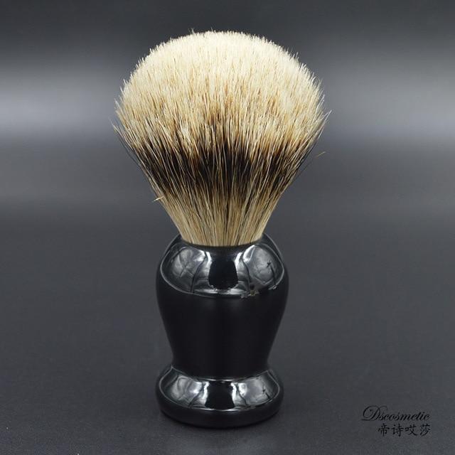 extra density silvertip badger hair shaving brush with resin handle men's grooming kit brush manufacturers