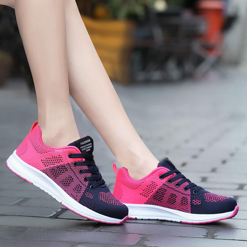 Womens Vulcanize Casual Shoes Breathable 2018 Sneakers Women Fashion Mesh Sneakers Shoes Woman Fly Knitting Zapatos Mujer