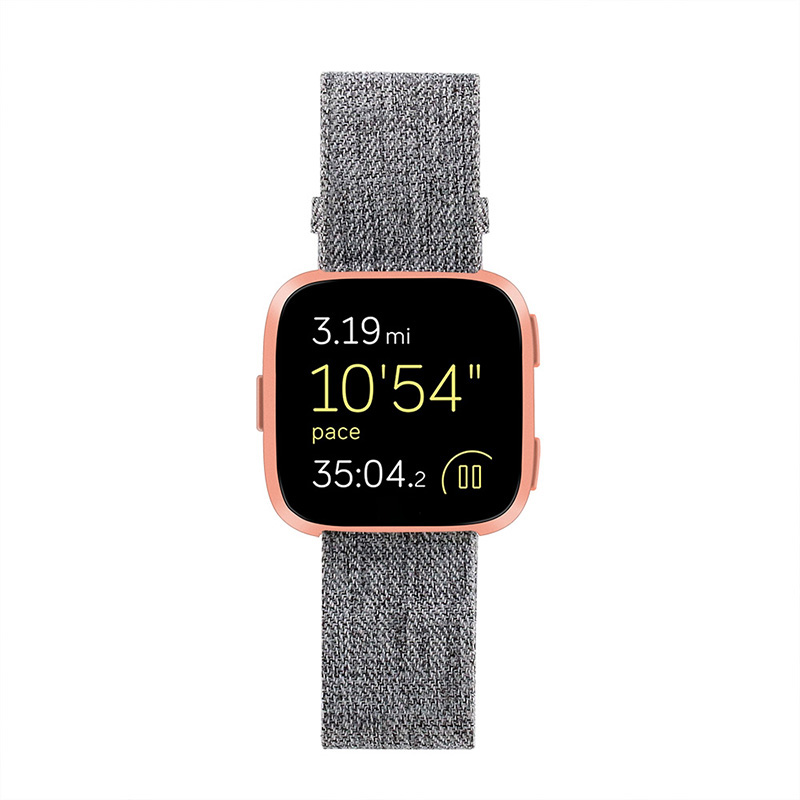 Woven Nylon Fabric 22mm Sport Wrist Band Strap For Fitbit Versa Watchbands Wristband Sport Band Wrist Bracelet Strap Bands