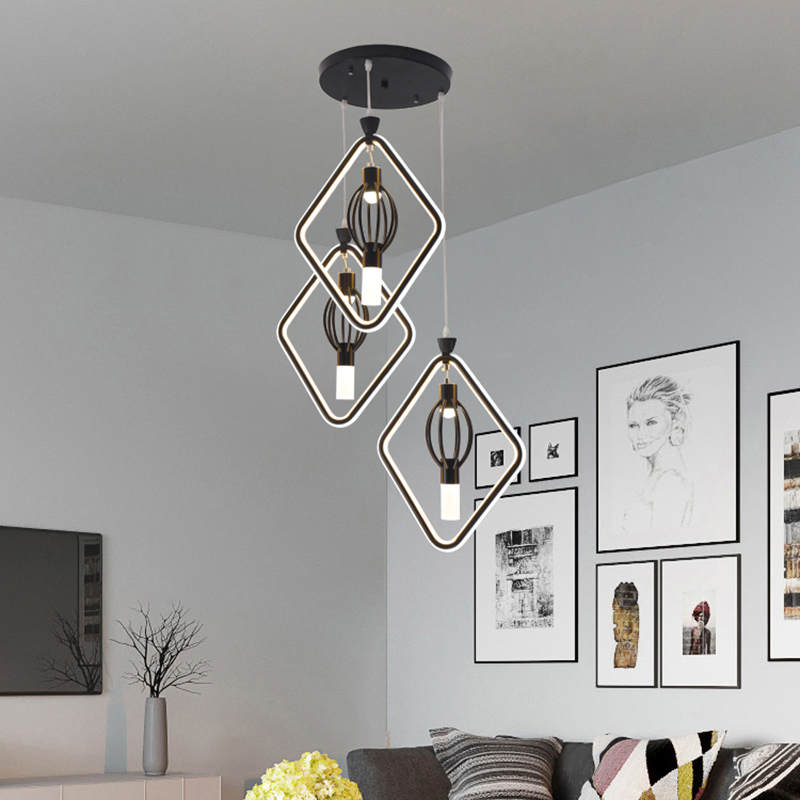 VeiHaoModern LED chandelier used in the living room dining room chandelier bar Coffee House kitchen hanging the retro chandelier vintage clothing store personalized art chandelier chandelier edison the heavenly maids scatter blossoms tiny cages