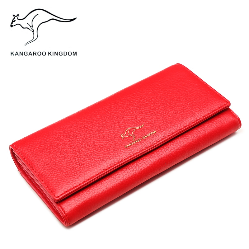 KANGAROO KINGDOM fashion luxury genuine leather women wallets long lady clutch purse brand womens credit card holder wallet joyir embossed flowers genuine leather women wallets brand design fashion long purse clutch coin purse card holder lady female27