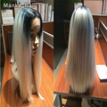 Free EUB high Quality heat resistant fiber straight Synthetic lace front wig for Black Women lace front synthetic wigs