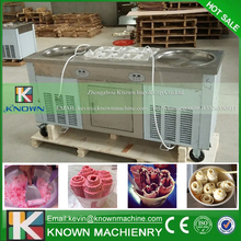 The KN-2+10 fried ice cream roll machine with R404A / R410A Refrigerant