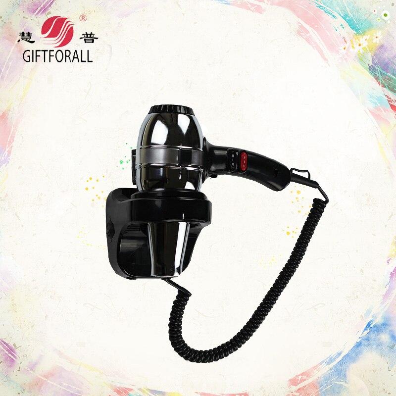 GIFTFORALL Pengering Rambut Wall Mounted Hotel Rumah Tangga Keamanan Profesional Hot Angin Dingin Adjustable 1800 W Pengering Rambut RCY-1400A