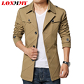 LONMMY Outerwear jaquetas Spring jacket Clothing mens jackets and coats men casual jacket Long style men coat 2016 New