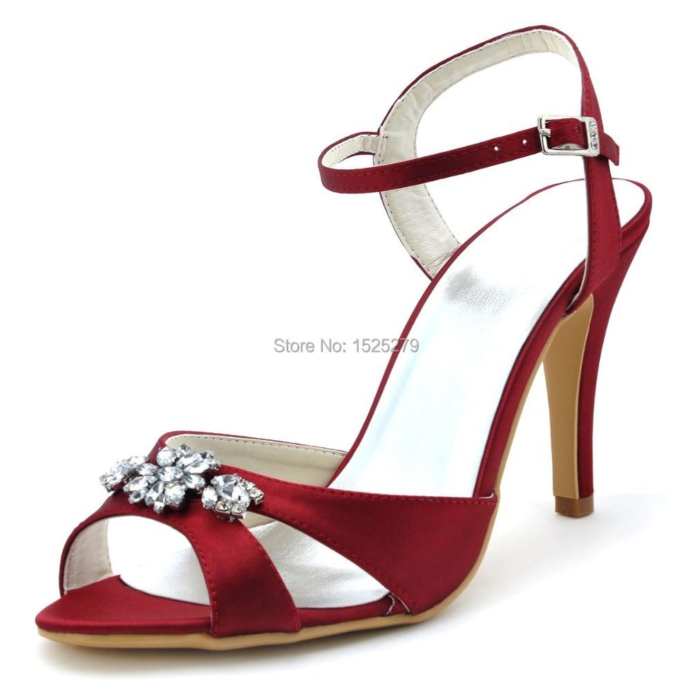 Peep Toe Slingback Wedding Shoes