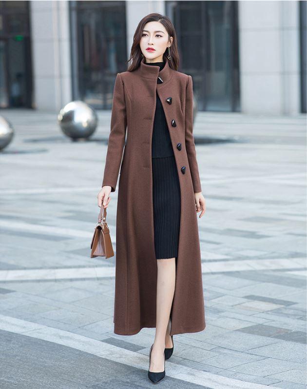 Casaco feminino 2018 Femmes Plus La taille Automne Hiver Cassic De Laine Maxi Long Manteau Femelle Robe Survêtement manteau femme