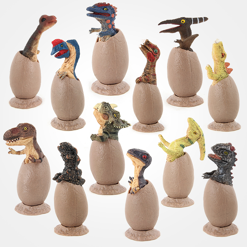 Pack of 12pcs Jurassic Half Hatched Dinosaur Eggs Collection Toy B-day Gift
