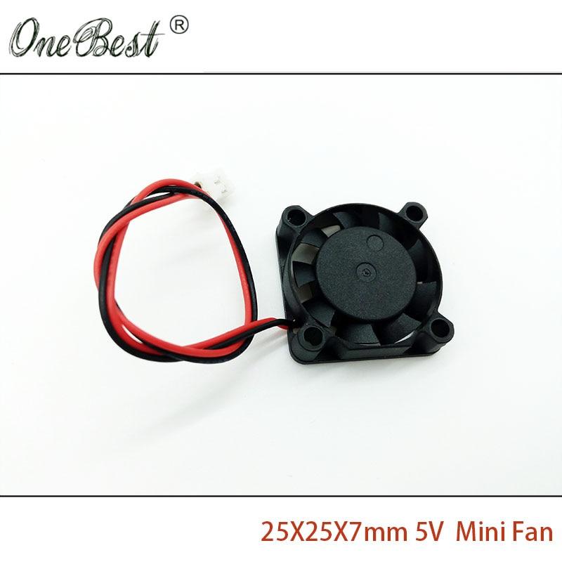 25X25X7mm Mini Fan DC 5V 2.5cm 25mm Brushless - საოფისე ტექნიკა - ფოტო 3