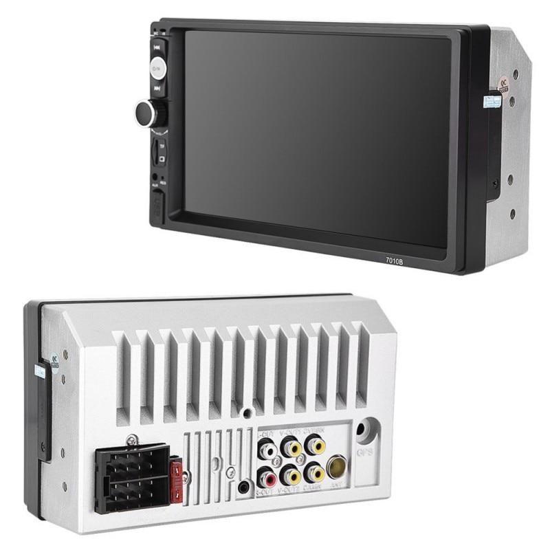 New Good 7010B 2 Din Multimedia Car Radio Stereo Audio 7 HD MP5 Touch Screen FM Digital Display Bluetooth USB Autoradio