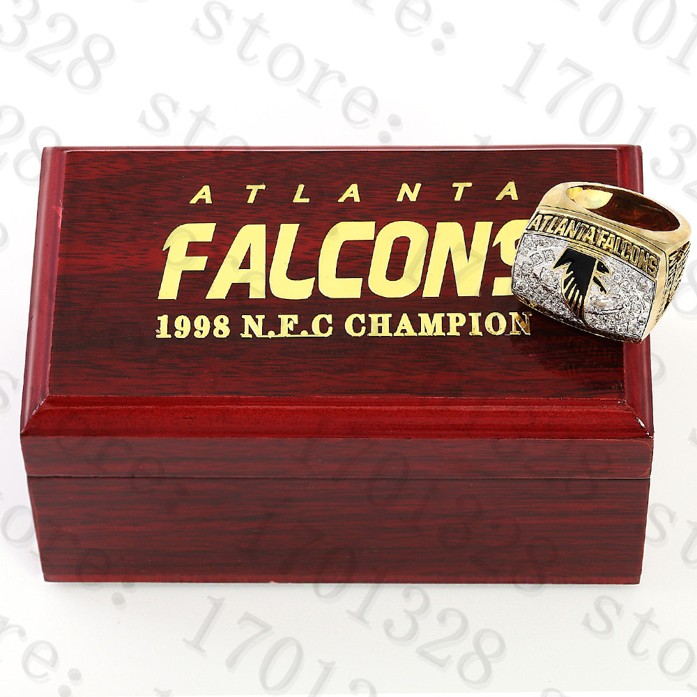 Buy Hot selling! N.F.C1998 ATLANTA FALCONS CHAMPIONSHIP RINGS!FREE SHIPPING!NCAA for $31.92 in AliExpress store