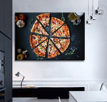 Modern Pizza Restaurant Wall Decorative 1 Piece Framework Or Frameless Picture Canvas HD Print Delicious Food Painting