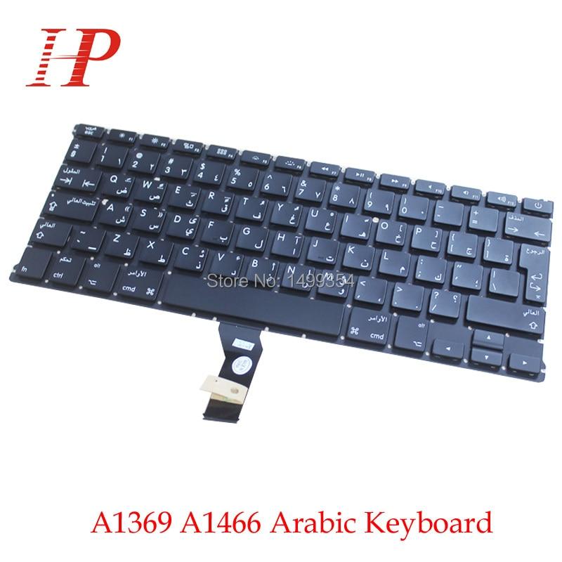 New A1369 A1466 AR Arabic Keyboard For Apple Macbook Air 13 A1466 A1369 Keyboard Arabic Standard 2011-2015
