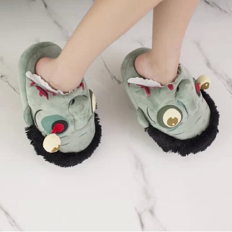 Christmas gift Halloween Free Shipping Plush Zombie Slippers / - Men's Shoes - Photo 4