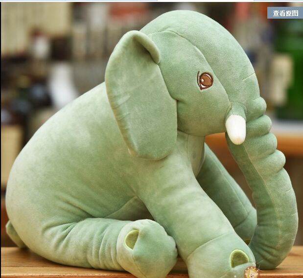 new creative plush green elephant toy stuffed cute elephant pillow
