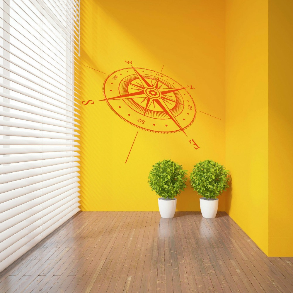 COMPASS North South East West Points Vinyl wall sticker decal Home ...