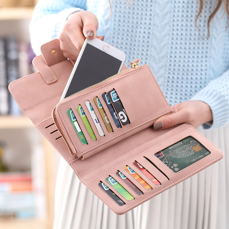 Fashion Wallet Women 39 s Purse Women Wallet Card Holder Female Clutch Long Purse Multi card bit Luxury Designer Lady Coin Purses in Wallets from Luggage amp Bags