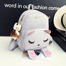 Style coréen automne nouvelle collection chat broderie sac à dos mignon de bande dessinée épaule sac preppy style de mode sac d'école des élèves