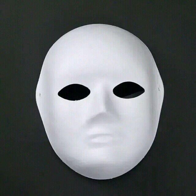 Кричащие призраки DIY пустые Вечерние Маски белая бумажная целлюлоза окружающей среды Изобразительное искусство живопись программы Маскарад полное лицо маски 10 шт - Цвет: women