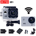 gopro hero 4 style F60 4K Action Camera WiFi Ultra HD 2.0 LCD Helmet Diving Cam go waterproof pro Sport Camara mini Cam
