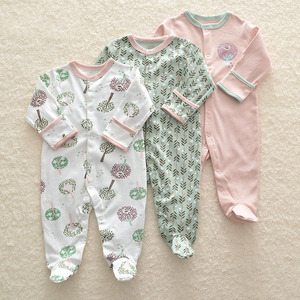 Image 5 - Baby Girl Romper Newborn Sleepsuit Flower Baby Rompers Infant Baby Clothes Long Sleeve Newborn Jumpsuits Baby Boy Pajamas