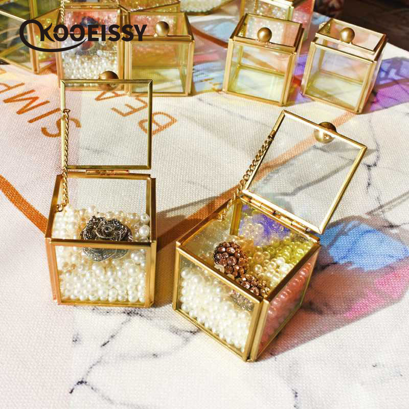 Bracelets Jewelry-Box Organize-Holder Storage-Accessories Clear Glass Earrings Necklace