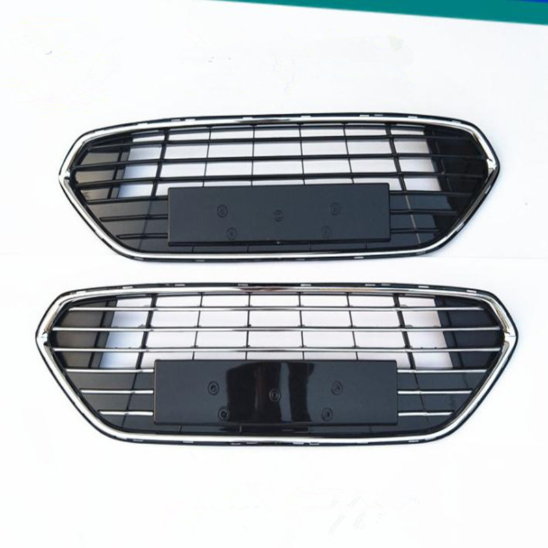 1 Piece All Electroplate Baking Painted  Front Bumper Lower Grille Chromed for Ford  Mondeo 2011-2012 abs chrome front grille around trim for ford s max smax 2007 2010 2011 2012