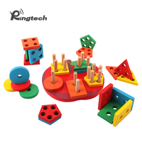 Ringtech Montessori Materials Baby Wooden Geometry Fraction Decomposition Sets Montessori Early Learning Wooden Toys