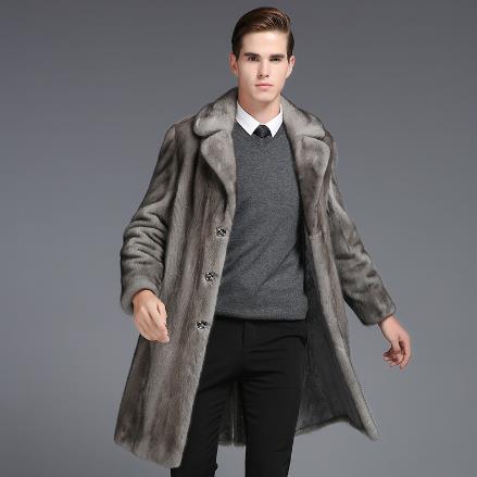 dfc07f5417 Furry Men faux fur Coats 2018 Oversized 4XL 5XL 6XL Winter Gray Fur Coat  Luxury Fake Mink Fur Men's Business Long Jackets M758-in Faux Leather Coats  from ...
