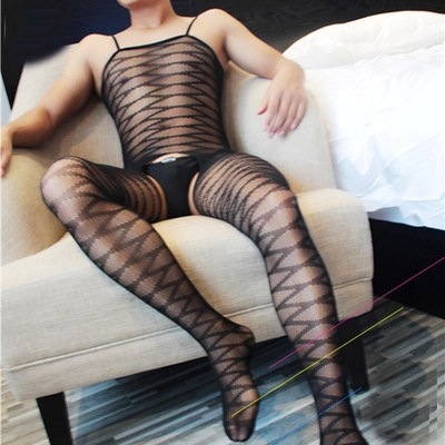new sexy lingerie men's body stocking wide stripe catsuit transparent bodystocking male lingerie sexy hot erotic body suit