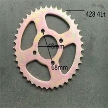 moto ycf sprockets bike motorcycle parts sprocket 41t for 428 chain mini kayo t4 ybr 125 pitbike cadena