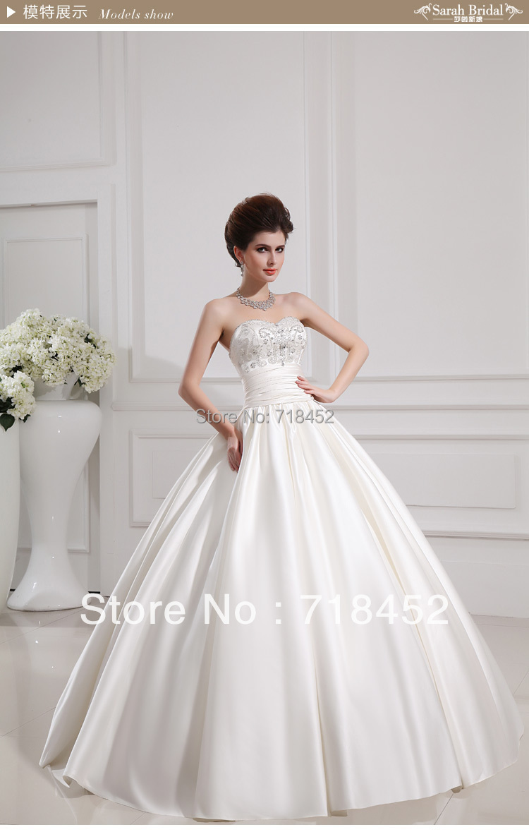 New arrival 2013 wedding dress sweetheart princess ball for Wedding dress fabric stores