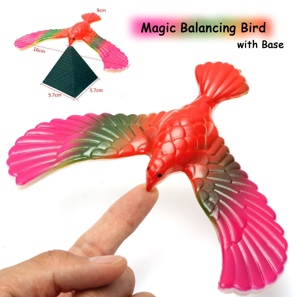 Free shipping Balance Eagle Bird Toy Magic Maintain Balance Home Office Fun Learning Gag Toy for Kid Gift High Quality