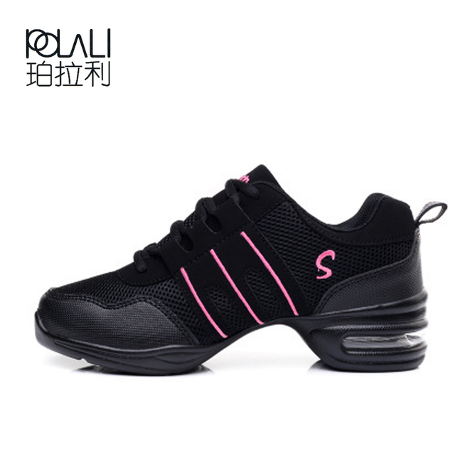 23c21344 POLALI Zapatos de baile de suela suave para mujer, zapatillas deportivas,  zapatillas de baile