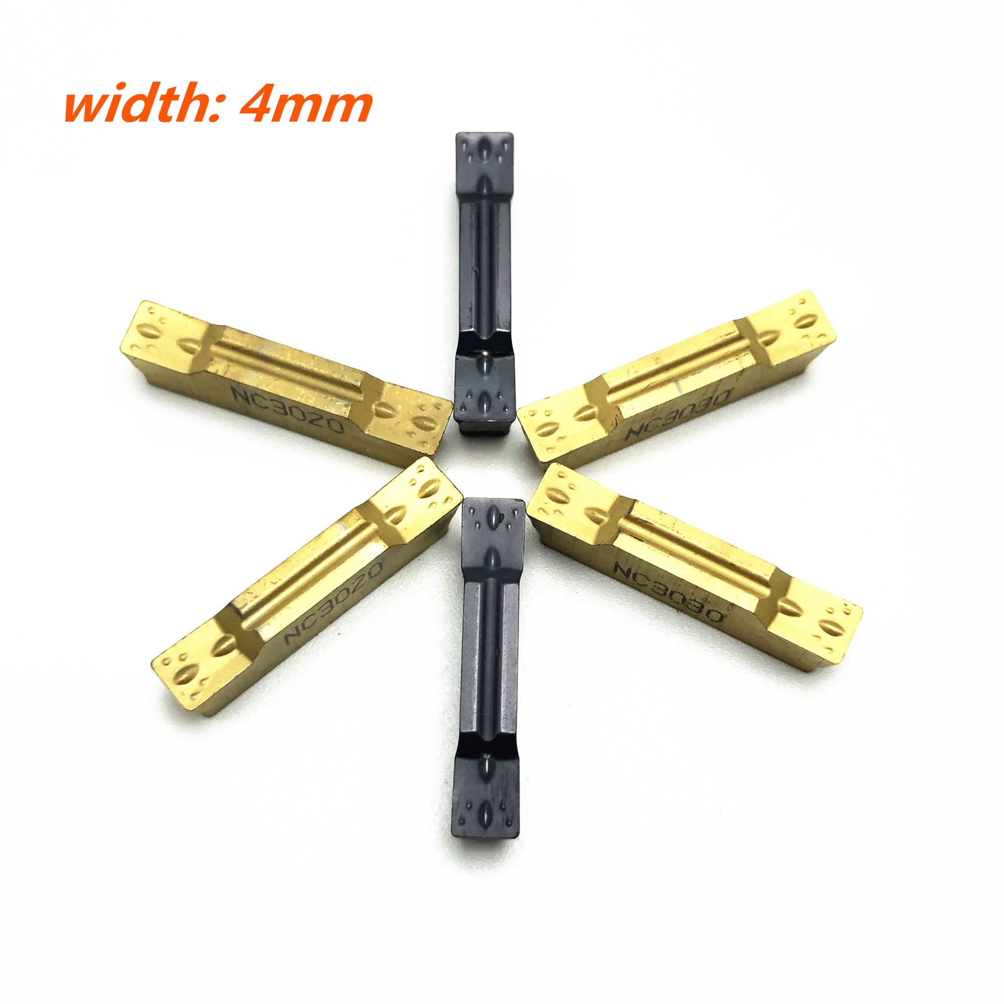 Купить с кэшбэком 4mm slotted blade MGMN400 M NC3020 NC3030 PC9030 carbide insert CNC machine tool milling tool lathe tool grooving tools