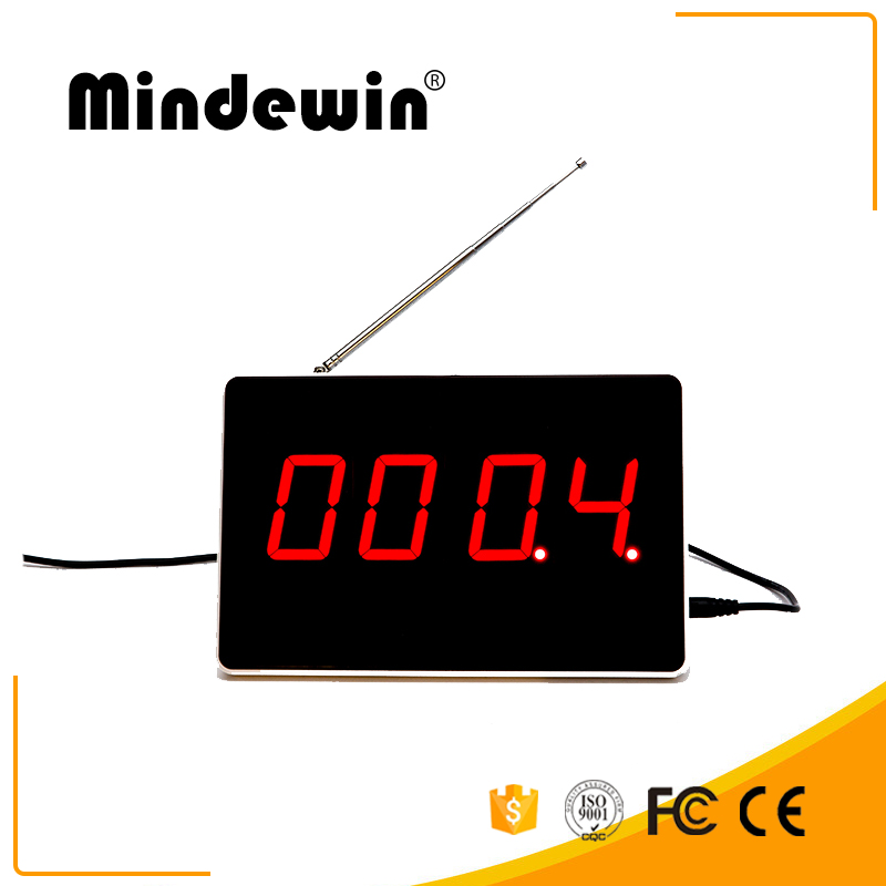 Mindewin Restaurant Queue Management System Wireless Queuing Number Display Electronic Calling Number LED Display original wismec sinuous p80 kit with elabo mini tank 2ml 80w max output mod box uses single 18650 battery electronic cigarette