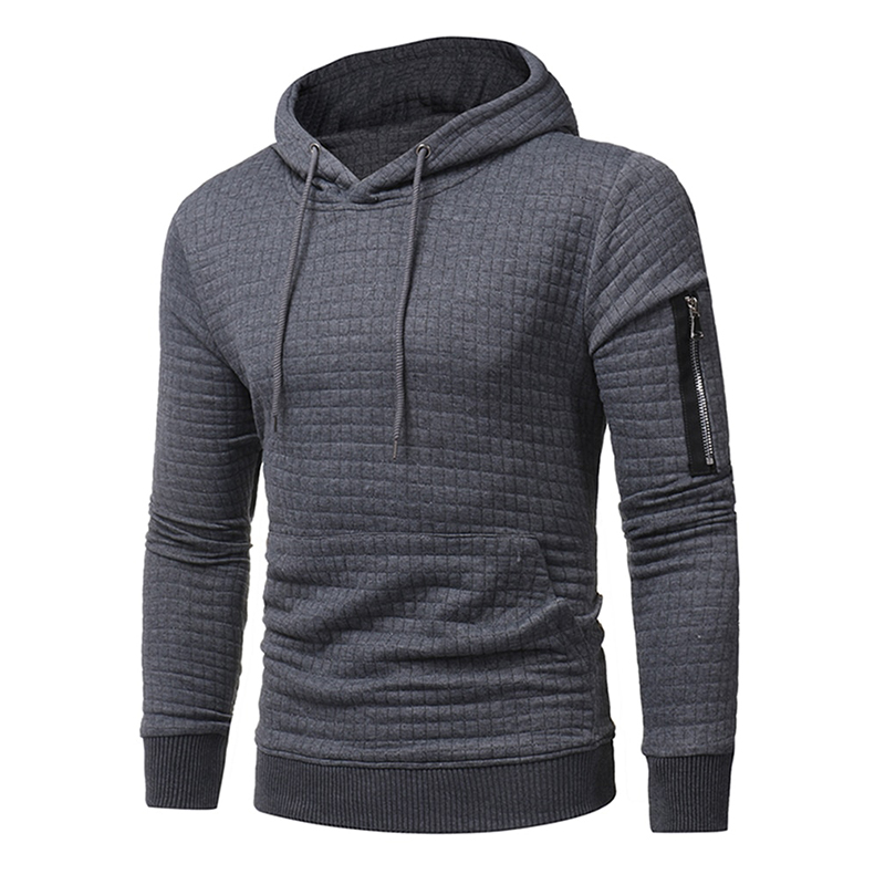 Men's Hoodie Long Sleeve Casual Simple Breathable Hoodie(China)