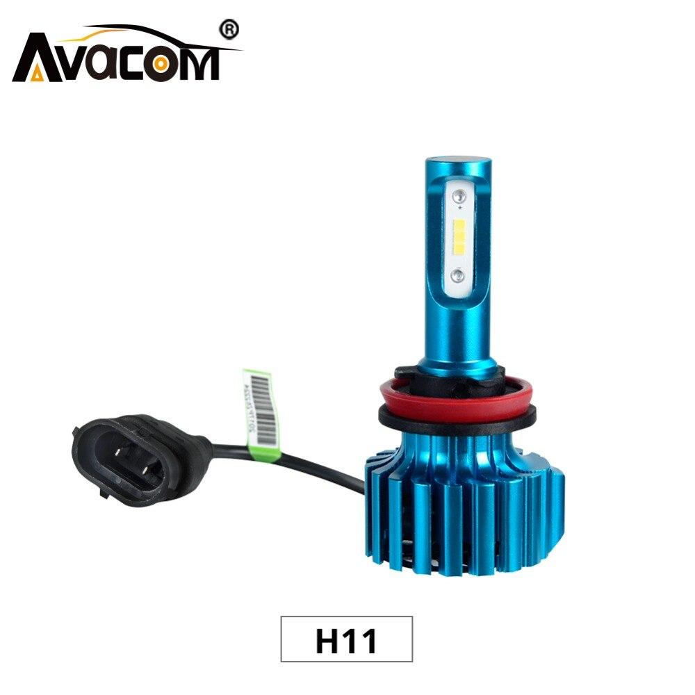 Avacom 2Pcs H11 Mini Car Fog Light 12V Automobiles Headlights CSP Chip 6500K Cold White 72W 12000Lm 24V H8 H9 Car Fog Lamp