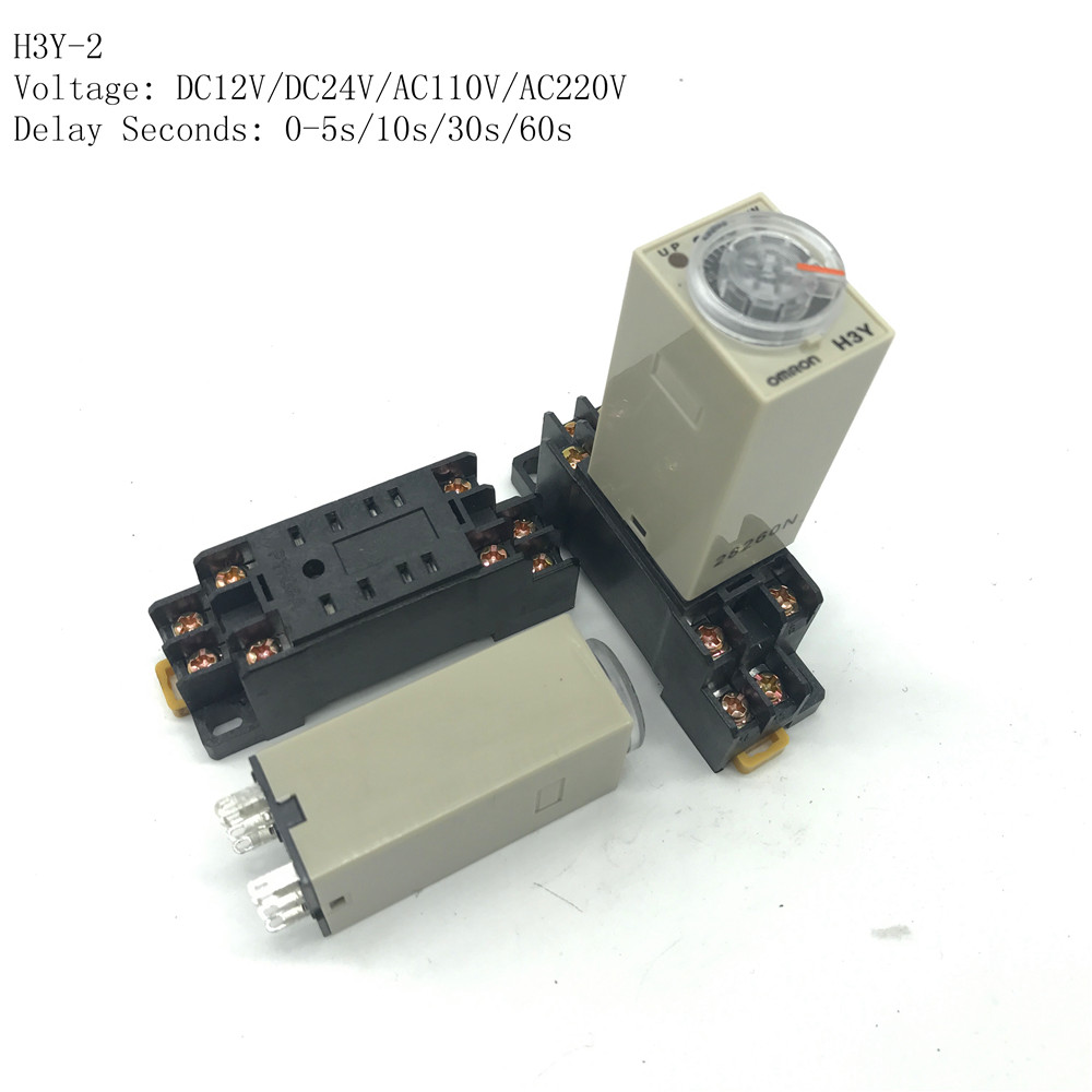 1 sets 12vdc h3y 2 0 5 10 30 60s seconds delay timer time relay 8 pin relay socket base pyf08a in relays from home improvement on aliexpress com alibaba  [ 1000 x 1000 Pixel ]