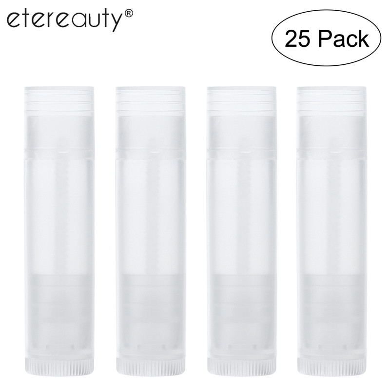 ETEREAUTY 25pcs Lipstick Tube Lip Balm Containers Empty Cosmetic Containers Lotion Container Glue Stick Clear Travel BottleETEREAUTY 25pcs Lipstick Tube Lip Balm Containers Empty Cosmetic Containers Lotion Container Glue Stick Clear Travel Bottle