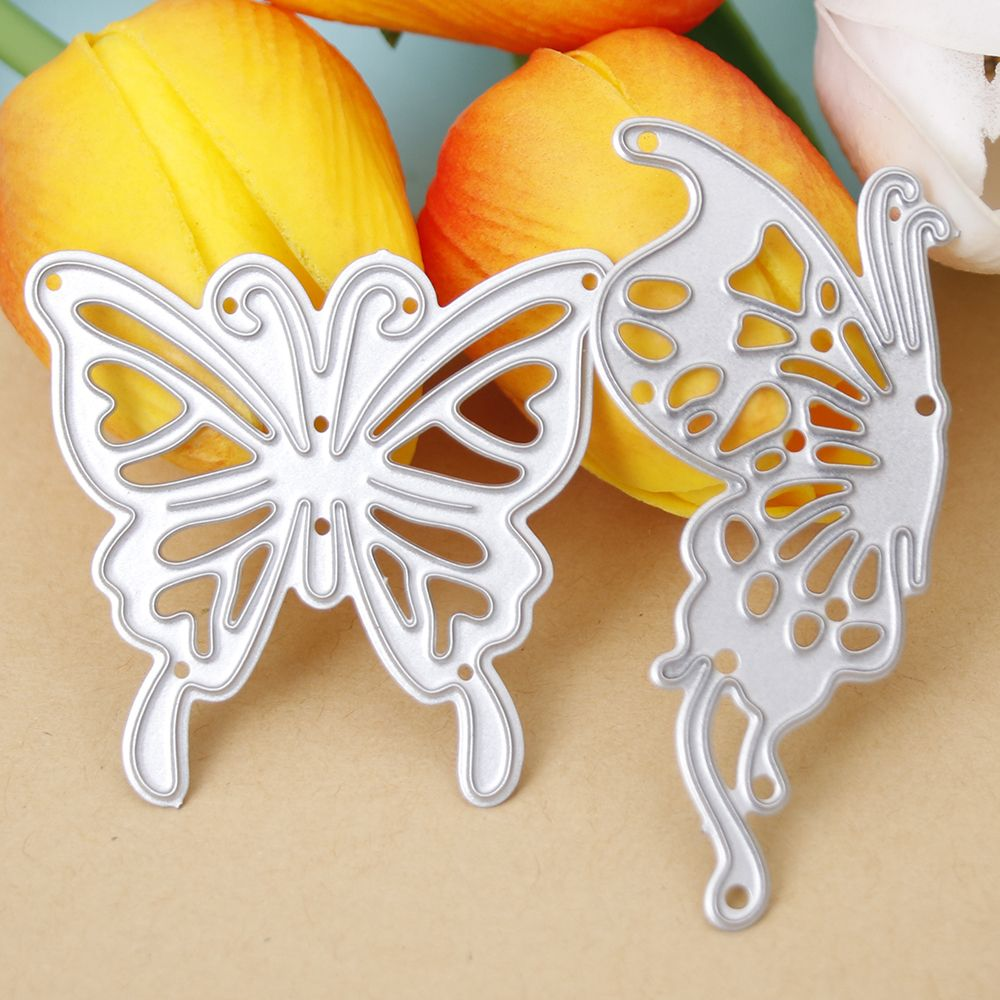 2pcs Metal Cutting Stencil Embossing Die Scrapbooking DIY Craft-Butterfly