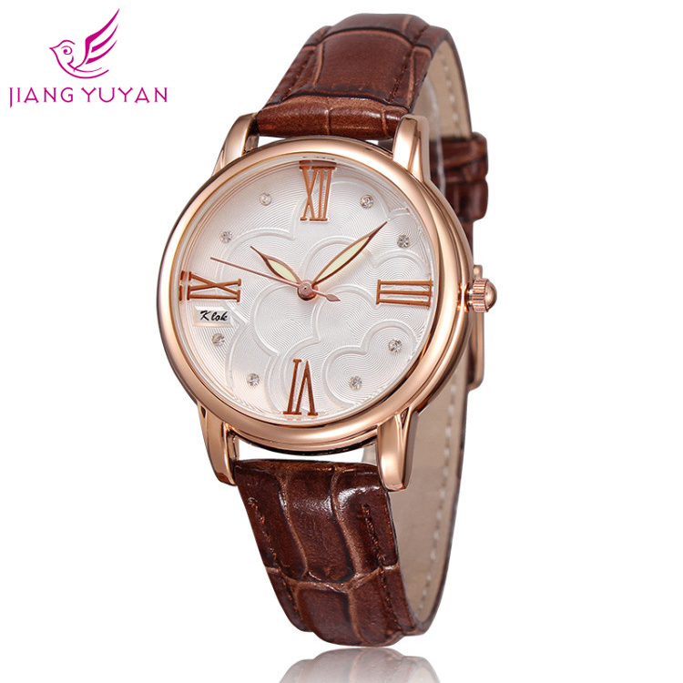 2019 New Listing Luxury Fashion Women Watche Diamond  Watch Leather Ladies Simple Watch Valentine Day Gift Relogio Feminino