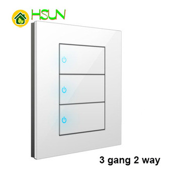 86 Type White Tempered glass Switch 1 2 3 4 gang 1 2 way Lizard Point Switch Comuter TV Telephone Socket Household Wall Switch 15