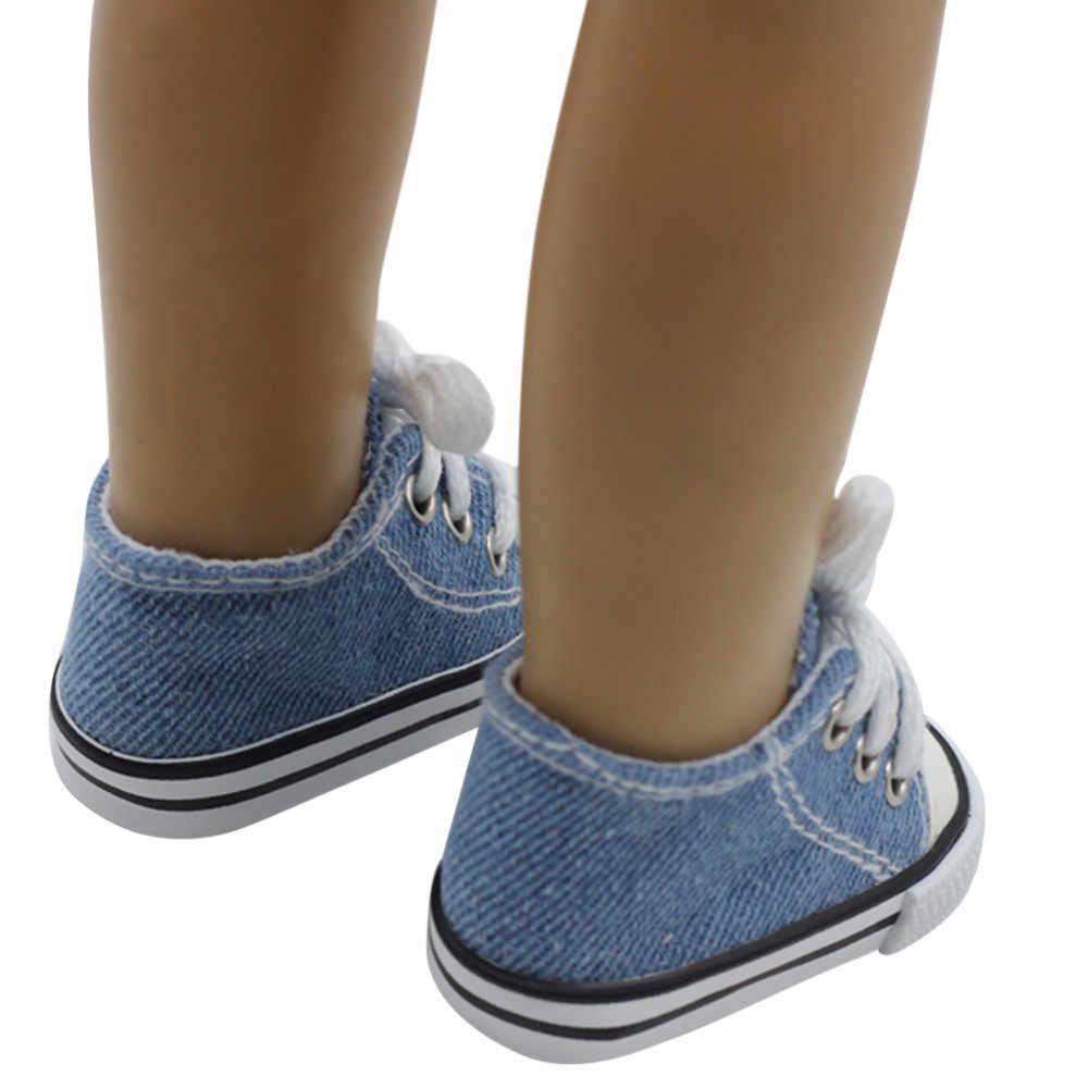 2018 горячая Распродажа 18-дюймовая кукла обувь парусиновые кроссовки со шнуровкой обувь для 18 дюймов наше поколение американские куклы аксессуары