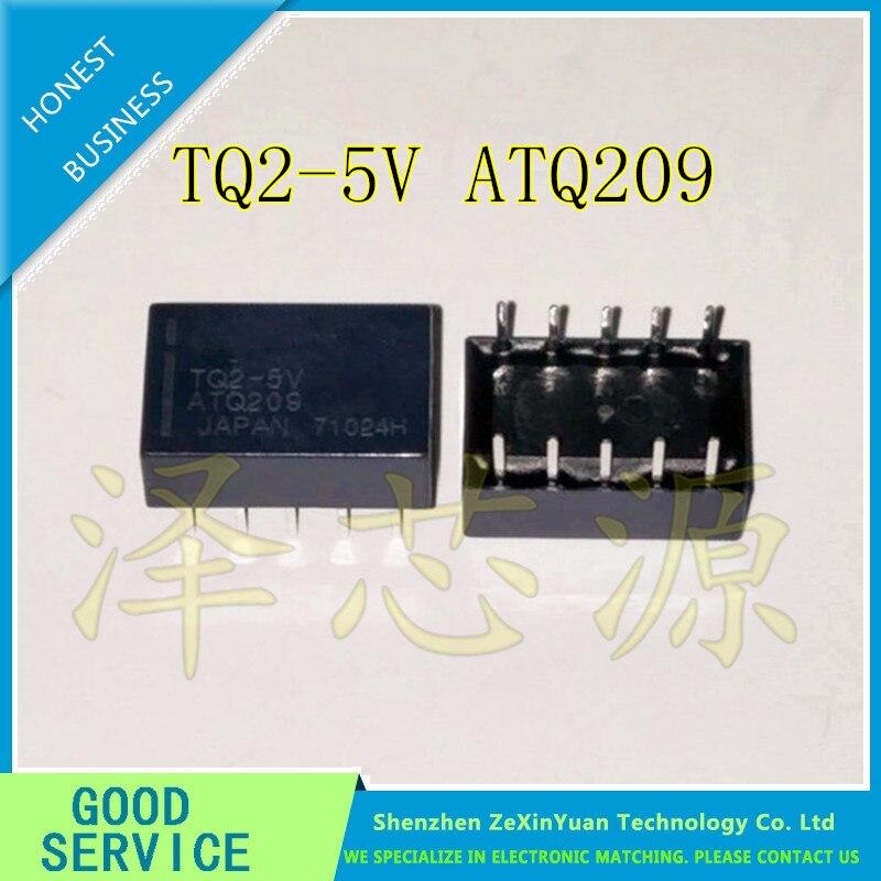 10PCS/LOT TQ2-5V TQ2 TQ2-5V TQ2-DC5V TQ2-5VDC ATQ209 RELAY TELECOM DPDT 1A 5V NEW ORIGINAL