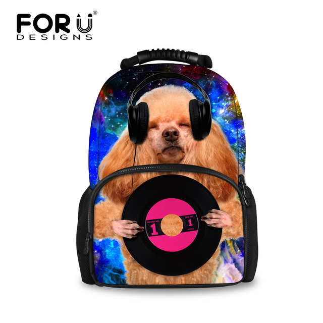 New Desingers Brand Animal School Bags for Girls Funny Dog Felt Children Students Schoolbag Campus Teenage Daily Laptop Mochilas