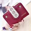 Hot Sale Women Hollow Wallet Case Vintage Lady Purse Female Letter Flower Money Clips PU Leather Women Wallet Short HASP Wallet
