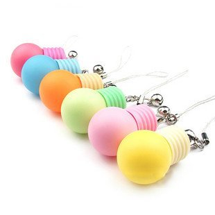 6 colors Bulb, luminous and flash,mobile cell phone flash strap +free shipping