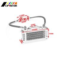 Aluminum Oil Cooling Cooler Radiator Set For Loncin Zongshen Lifan Shineray Yinxiang 50 70 90 110CC Horizontal Engines