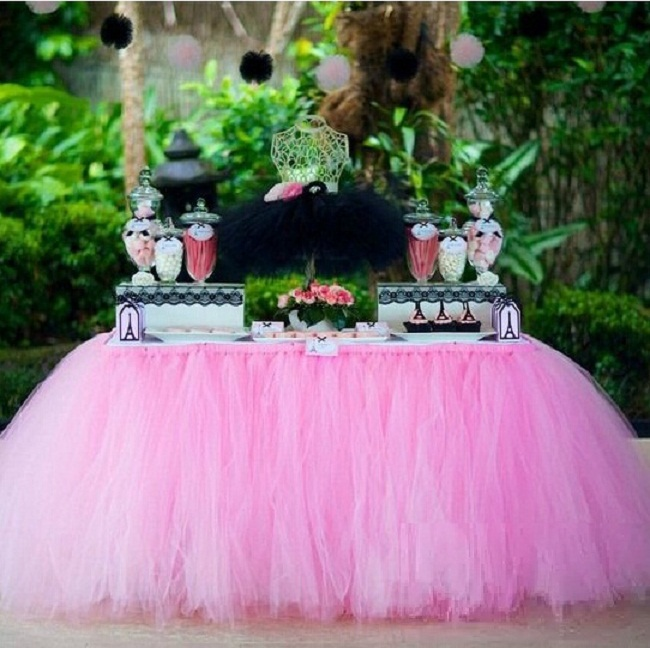 Free Shipping 20 Color Festive Wedding Supplies Customize Handmade Tulle Tutu Table Skirt Birthday Party Decorations Kids 100×80